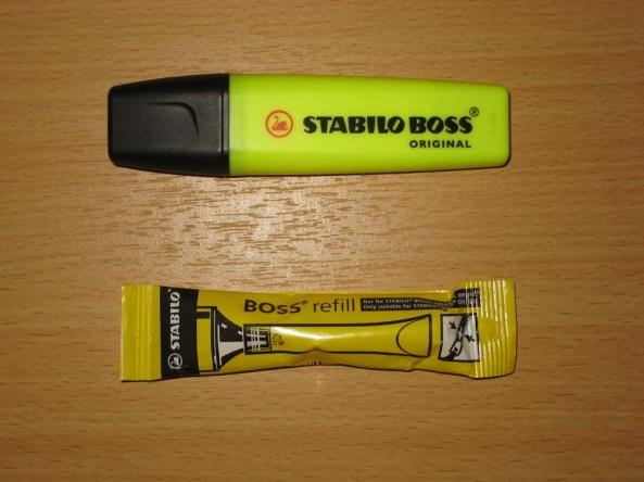 Stabilo Boss Original e Recarga