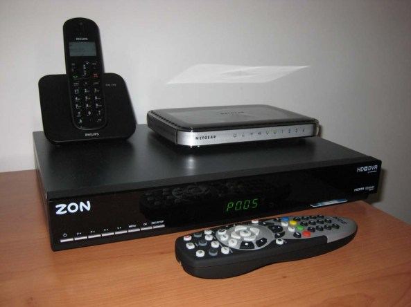 Zon Box HD DVR Modem Telefone