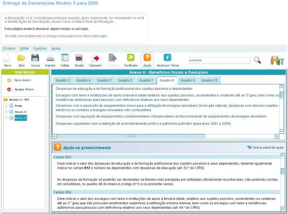 IRS Modelo 3 2009