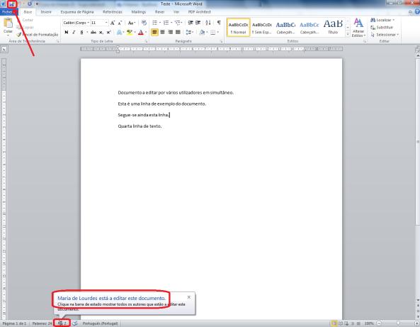 Como trabalhar com vários utilizadores no mesmo documento Word (final 1)