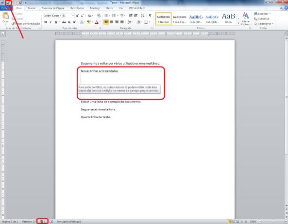 Como trabalhar com vários utilizadores no mesmo documento Word (final 2)